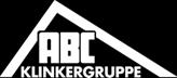 ABC klinker logo baltas